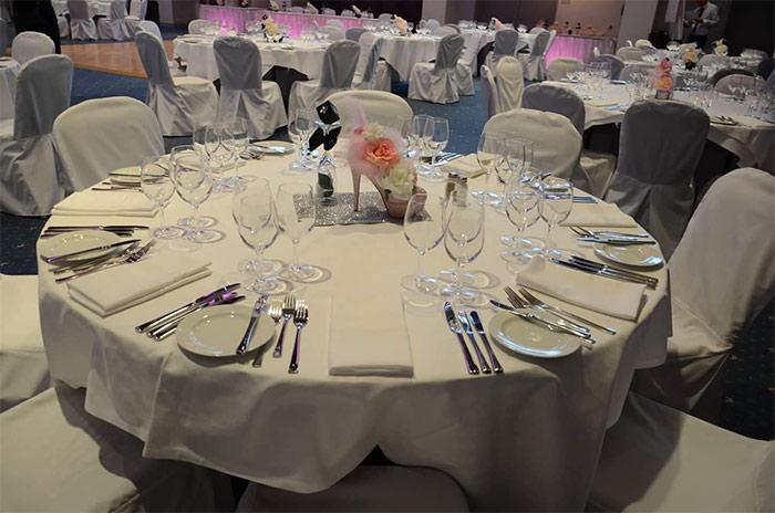 Tischdekorationen für Hochzeiten